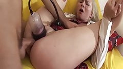 young tens first extreme anal gagging lesson