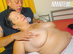AmateurEuro – Brunette Granny Goes Wild On Hard Sex Session