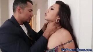 Bondage Asian Babe Naked Hammered Tight Twat Doggy after Fondling
